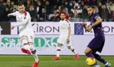 علامات واهداف لاعبي مباراة فيورنتينا - ميلان