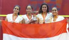 سيدات مصر يتوجن بلقب بطولة العالم للاسكواش للفرق