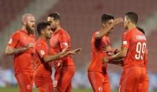 الأهلي يتعادل مع قطر والعربي يغلب الخور