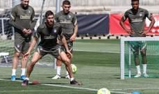 اتلتيكو مدريد يطلق استعداداته للقاء القمة امام برشلونة