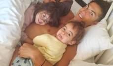 رونالدو ينشر صورة مع عائلته