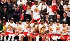 تورنتو يحصل على اكبر خاتم في تاريخ NBA