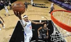 NBA: كليبرز ينهي سلسلة هزائمه بالفوز على سبيرز