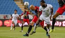 الدوري السعودي: القادسية يغلب ضمك وتعادل الشباب والرائد
