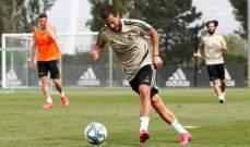 ريال مدريد يكمل تدريباته وسط حذر شديد