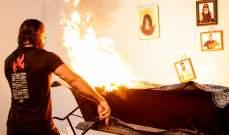 رولنز يحرق مقر براي وايات ونتائج عرض الرو الكاملة