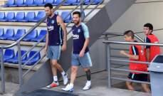 ميسي وقادة برشلونة ينضمون الى تمارين برشلونة