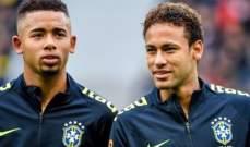 جيسوس: البرازيل قادرة على الفوز من دون نيمار