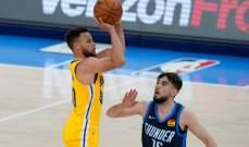 NBA: غولدن ستايت يفوز على اوكلاهوما؛ ستيفن كوري يسجل 42 نقطة