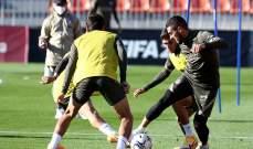 اتلتيكو مدريد يخوض تدريباته دون الدوليين