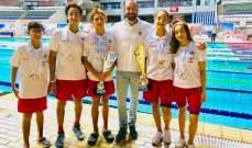 سبّاحو نادي النجاح يتألّقون في البطولة العربية