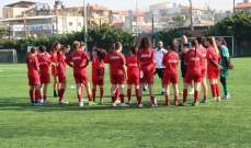 استعدادات منتخب لبنان لبطولة غرب آسيا للشابات