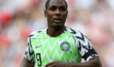 هداف امم افريقيا 2019 يعتزل اللعب الدولي مع منتخب نيجيريا