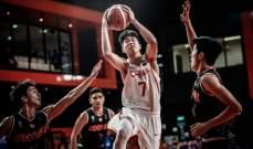 الصين الى الدور الربع نهائي لبطولة اسيا لكرة السلة تحت 18 عاماً