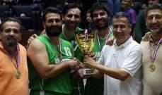 بطولة الدرجة الثالثة في كرة السلة : اللقب لنادي قنوبين والشياح وصيفه