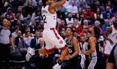 تورنتو ودنفر يحافظان على وصفاتهما في دوري رابطة محترفي كرة السلة الاميركية