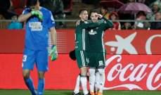 الليغا : ريال بيتيس يفوز بشق الانفس على جيرونا