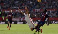اشبيلية يواصل الضغط على ريال مدريد بخماسية في مرمى ليفانتي