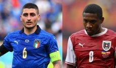التشكيلة المتوقعة لمباراة إيطاليا والنمسا الليلة
