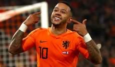 تألق كبير لممفيس ديباي مع منتخب هولندا