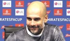 غوارديولا سعيد بالالتزام العالي للاعبيه في مواجهة بيرنلي