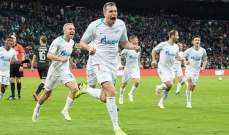 زينيت يحرز لقب الدوري الروسي قبل اربع جولات من نهاية الموسم