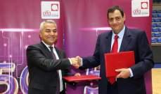 الحلبي يشكر شركة ألفا على دعمها لمنتخب لبنان