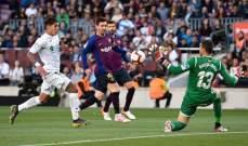 برشلونة يتعافى تدريجيًّا امام خيتافي وسقوط مريع لريال مدريد وتعادل اتلتيكو مع اشبيلية