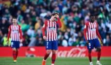 الليغا : خسارة اتلتيكو مدريد تمنح الراحة لبرشلونة والامل لريال مدريد