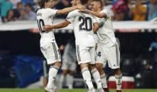 الليغا : ريال مدريد في الصدارة مؤقتا بعد الفوز على اسبانيول بصعوبة