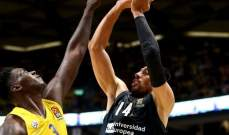 الدوري الأوروبي لكرة السلة: فوز ساحق لبايرن ميونيخ وفوز كبير لريال مدريد