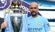 بيب غوارديولا يفوز بجائزة مدرب العام في الدوري الإنكليزي