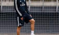 تدريبات ريال مدريد تشهد عودة بنزيما
