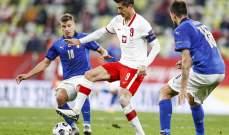 احصائيات عن منتخبي إيطاليا وبولندا في دوري الامم الاوروبية