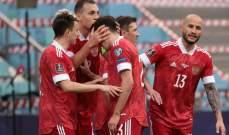 ابرز مجريات مباراة روسيا وسلوفينيا