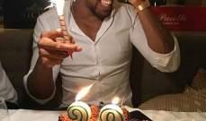 انطوني جوشوا يحتفل بعيد ميلاده