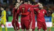 اسبانيا تتجاوز اوكرانيا بصعوبة وانكلترا تضرب برباعية والنمسا بخماسية