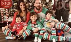 ميسي يحتفل بعيد الميلاد مع عائلته