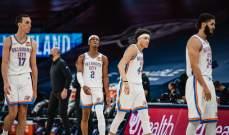NBA: ثاندر يفوز على غريزليز وبوكوسيفسكي يسجل 23 نقطة