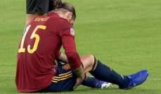 راموس يترك لقاء المانيا مصابا