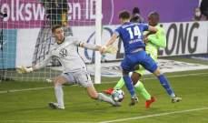 الدوري الالماني: فولفسبورغ يجر هوفنهايم لخسارة جديدة