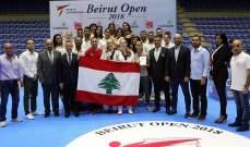8 ميداليات ذهبية للبنان في ختام بطولة بيروت المفتوحة في التايكواندو