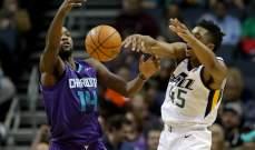 NBA : تشارلوت هورنيتس يفوز على يوتاه جاز