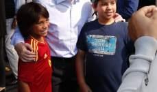 بيريز يحيَي لاعبي ريال مدريد في مونتريال