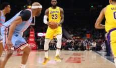 NBA : هوكس يفوز على ليكرز و28 نقطة لليبرون جايمس