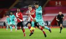 الدوري الانكليزي: ليفربول يسقط امام ساوثامبتون والمستفيد الاكبر مان يونايتد