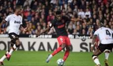 علامات وأهداف لاعبي مباراة فالنسيا - اتلتيكو مدريد