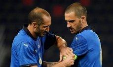كيليني يعود إلى تدريبات ايطاليا قبل مواجهة النمسا