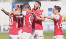 الدوري البرتغالي : براغا يعزز مركزه الثالث