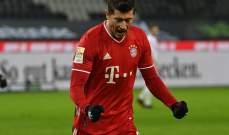 انجاز غير مسبوق لليفاندوفسكي في الدوري الالماني